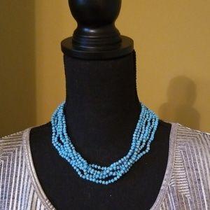 New! Turquoise beaded choker!